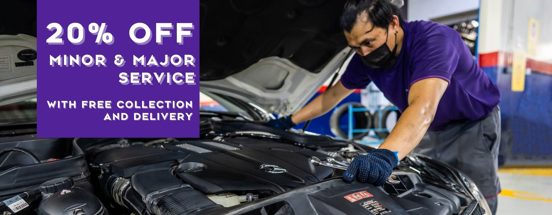 20% off Major and Minor car service
