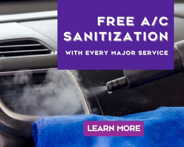 Free A/C Sanitization with every major service