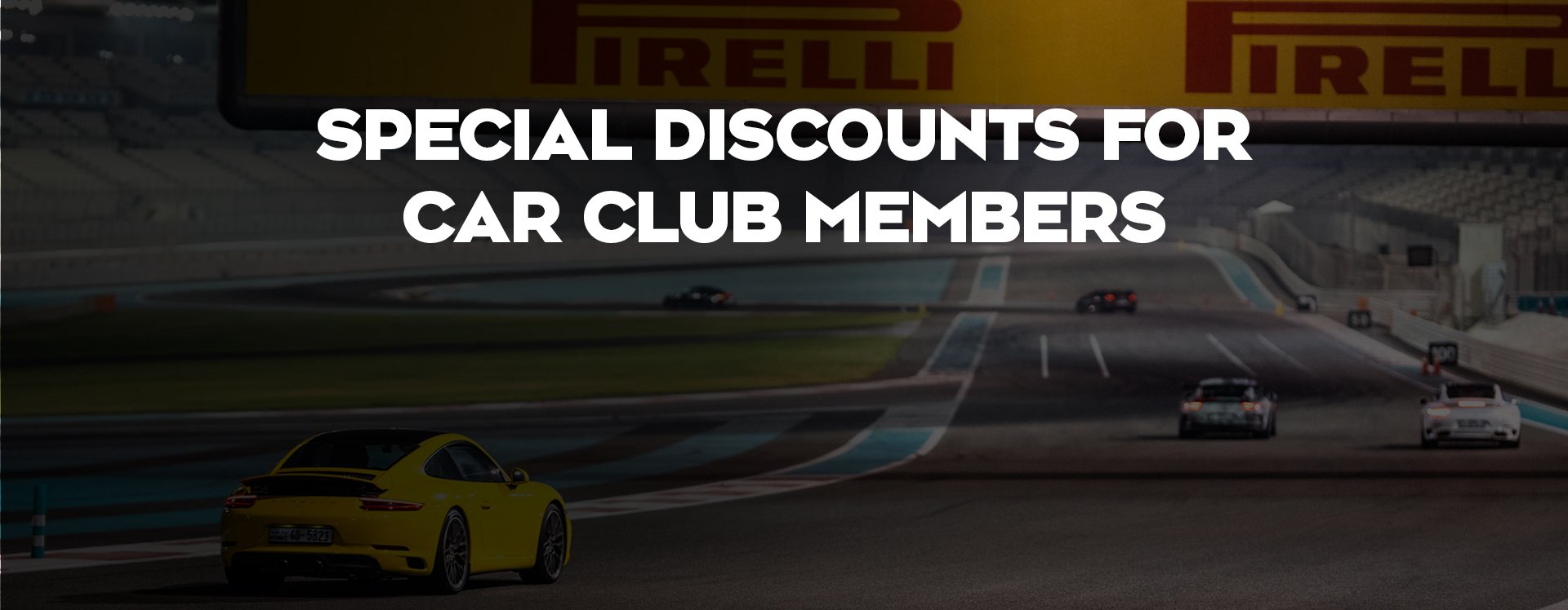 Special discounts for car club members